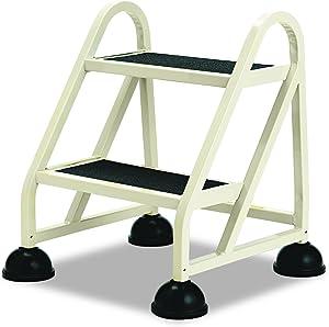 "Cramer 102019 Two-Step Stop-Step Aluminum Ladder, 23"" High, Beige"