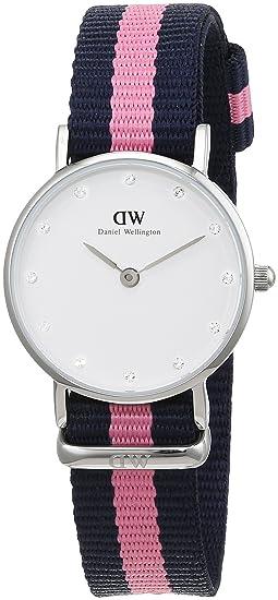 493043b7d027 Daniel Wellington Reloj con Correa de Acero y Charol para Mujer 0926DW   Amazon.es  Relojes