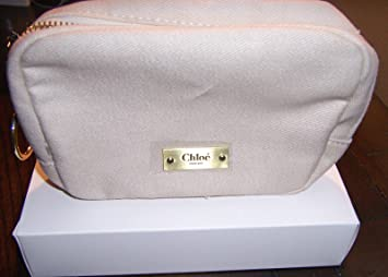 Amazon.com   Chloe Parfum Beige Canvas Zip Pouch Makeup Bag Cosmetic  Clutchchloe Mini Set 45ca950416494
