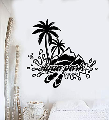 yaoxingfu Seaide Swem Tatuajes de Pared Vinilo Ocio Playa Estilo ...