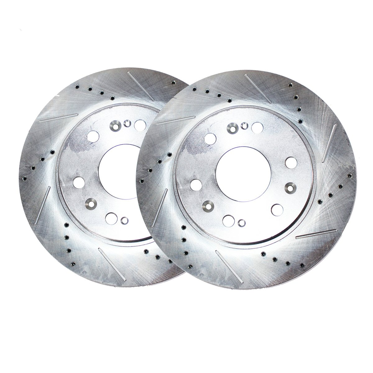 Detroit Axle - 6-Lug FRONT Drilled and Slotted Brake Rotors - Performance  Grade for Ford Expedition F-150 Lincoln Navigator