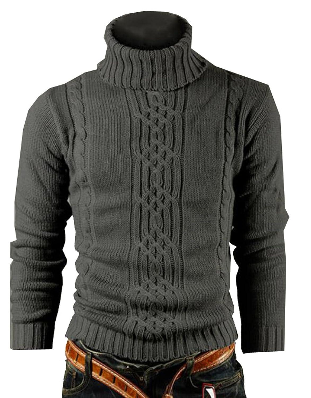 755f0af523 85%OFF OULIU Mens High Neck Basic Designed Pullover Sweater - asisc.ir