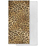XMCL Quick Dry Towel Animal Leopard Print Soft Absorbent Hand Towel Washcloth for Bathroom Gym Sport Travel 30x15 inch
