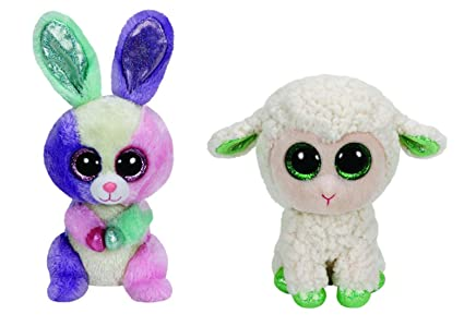 Amazon.com  Ty Easter Beanie Boo Bloom And Lala Set  Toys   Games dc8aebf798a