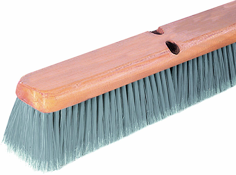 Wilen F002024, Flagged Polypropylene Fine Floor Sweep, 24'' Wood Block, 3'' Bristle Trim (Case of 12)