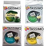 Tassimo Cápsulas de Café World Trip, Café Molido de Tueste Natural, Arábica, 4 Variedades, 64 T-Discs (56 tazas)