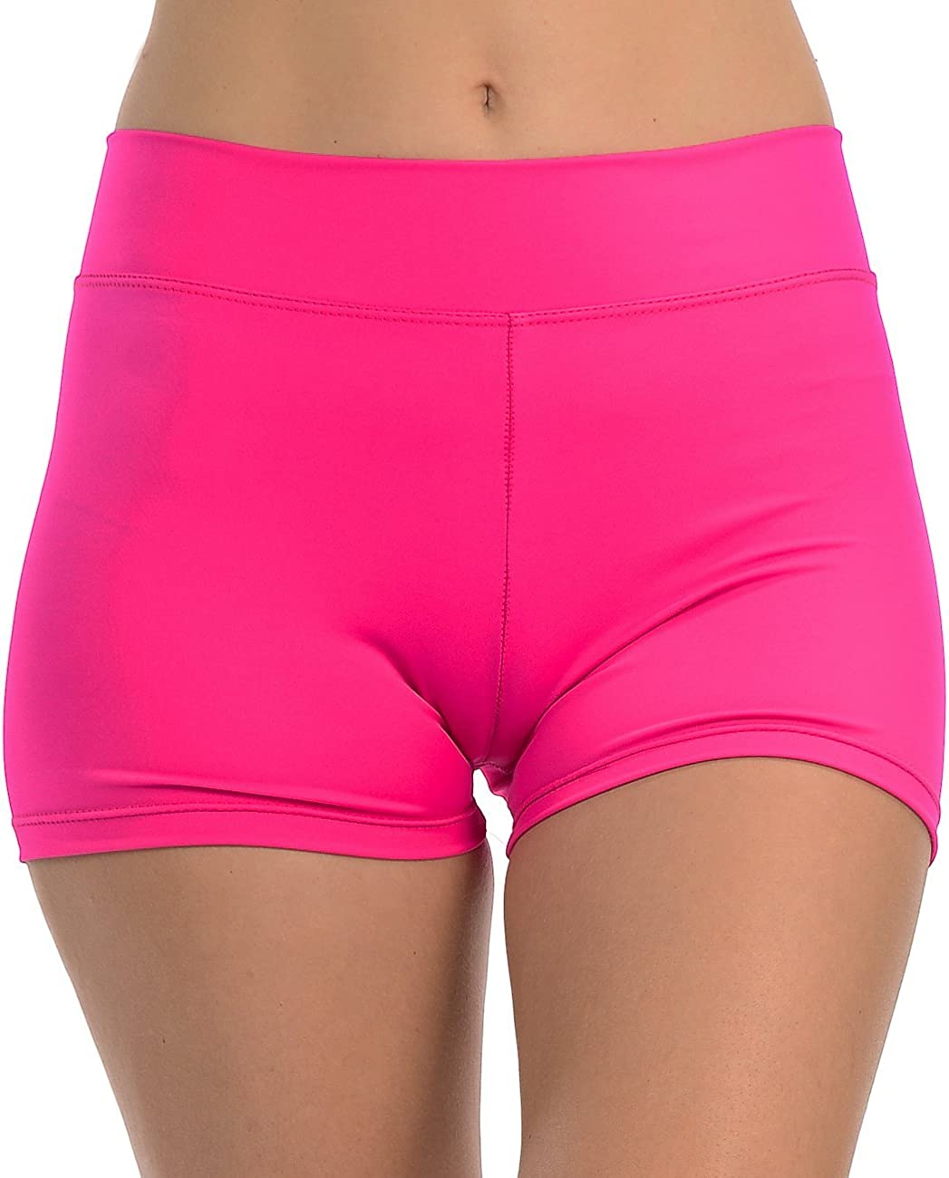 Anza Girls Activewear Dance Booty Shorts Gym Workout Yoga Shorts: Clothing