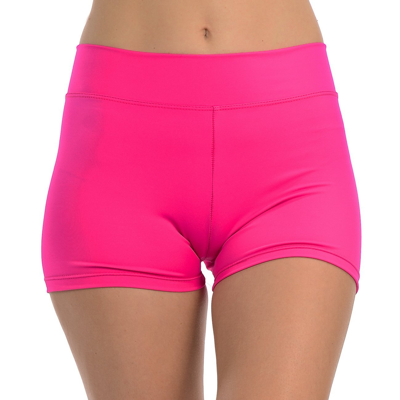 ANZA Girls Active Wear Dance Booty Shorts-Fuchsia,Large(12/14) by Anza Collection
