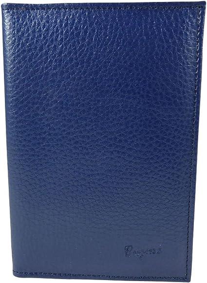 Pochette de protection assurance Etui Porte carte grise permis en croute de cuir Bleu TU