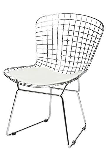 Pangea Home Lexi Wire Mesh Dining Chair, White And Black
