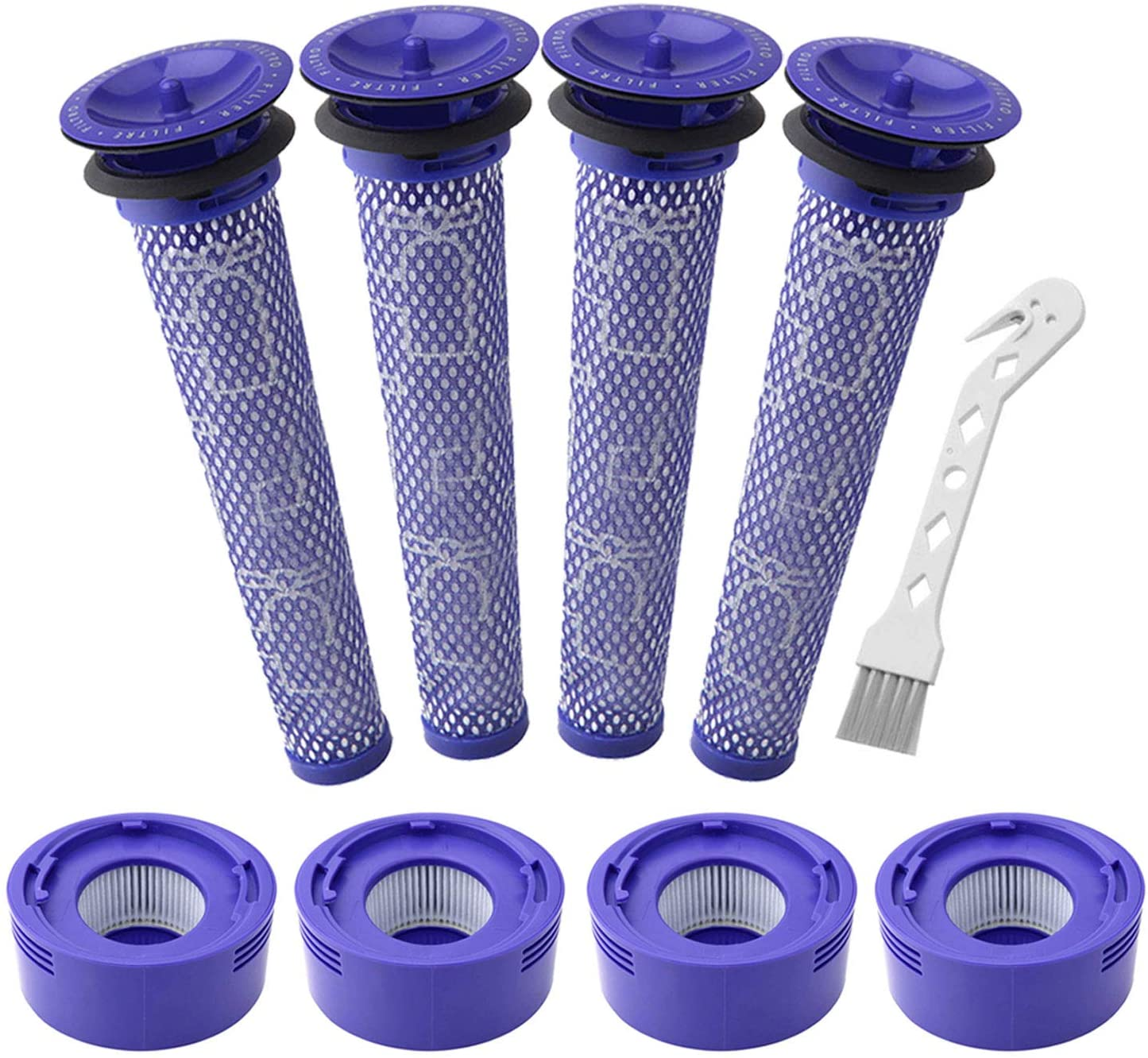 Lemige 4 Pack Pre-Filters and 4 Pack HEPA Post-Filter Replacements Compatible with Dyson V7, V8 Animal and V8 Absolute Cordless Vacuum, Compare to Part 965661-01 and 967478-01