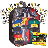 Lego Ninjago Toddler Preschool Backpack Bundle -- 11 Inch Mini Backpack with Stickers (School Supplies)