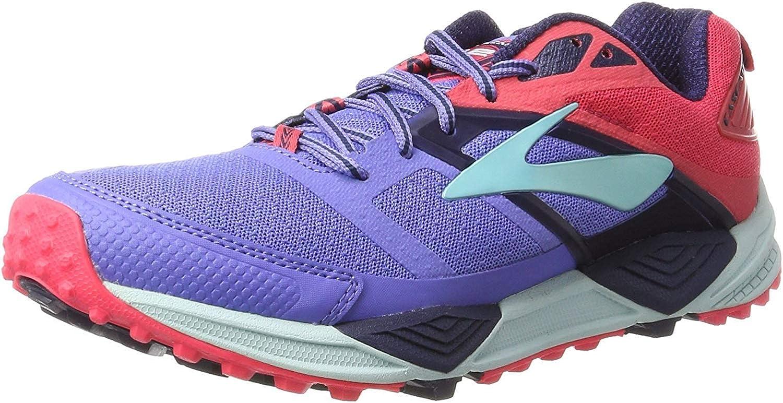 Brooks Cascadia 12, Zapatillas de Gimnasia para Mujer, Azul (Baja Blue/Paradise Pink/Clearwater), 43 EU: Amazon.es: Zapatos y complementos