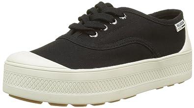 Palladium Pampa Free Leather, Baskets Hautes Femmes, Noir (Black/Marshmallow 585), 41 EU