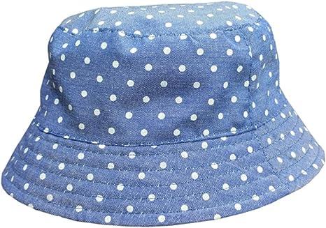 ACVIP Girl Starry Style Summer Fisherman Bucket Flat Top Beach Hat