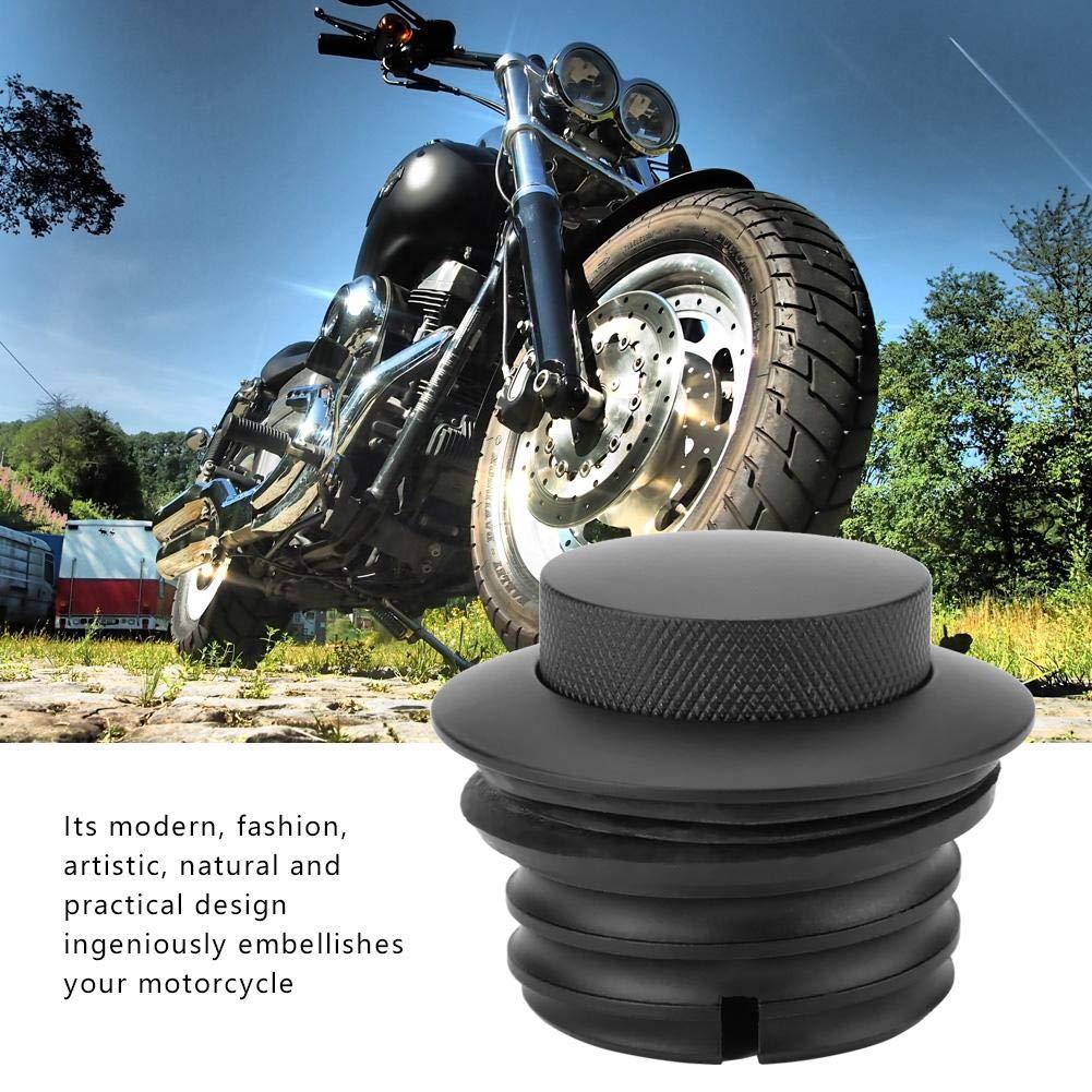 KIMISS Billet Alluminio Moto Serbatoio carburante Tappo serbatoio serbatoio gasolio Pop-Up per Harley Davidson 1982-2017 Black,