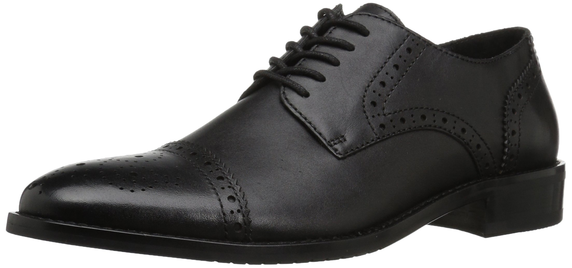 206 Collective Men's Georgetown Cap-Toe Oxford, Black, 11.5 D US
