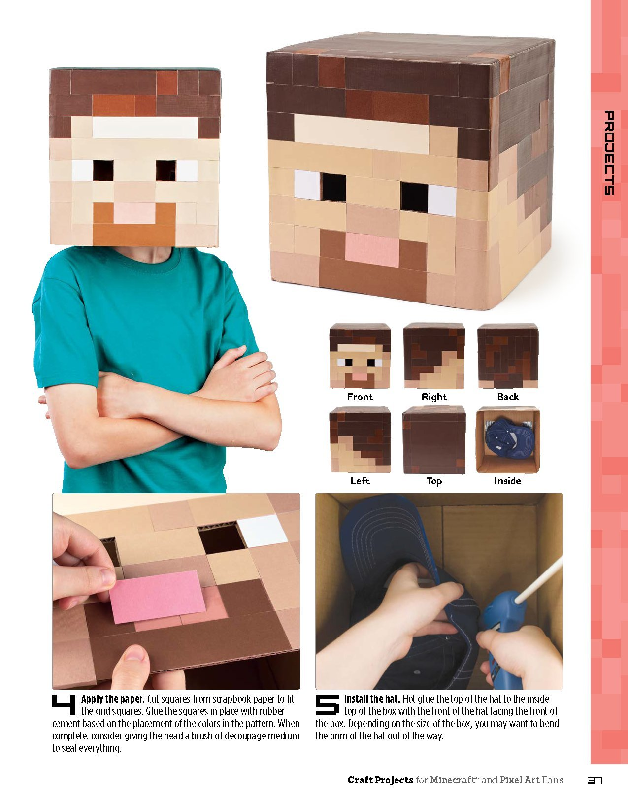 Craft Projects For Minecraft And Pixel Art Fans An Independent Do