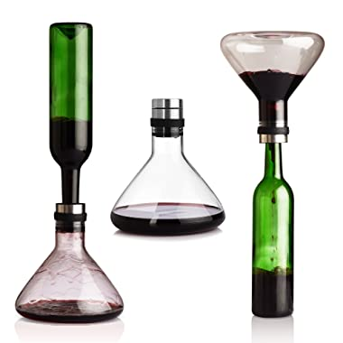 NORTHOME Wine Breather Carafe Decanter with lid 50oz, High-borosilicate heat-resistant glass refined by Mouthblown carafe