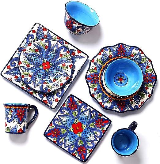 Amazon.com: Juego de vajilla de porcelana de 8 piezas ...