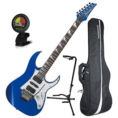 Ibanez rg450dxslb guitarra eléctrica Edge II Trem Starlight azul acabado w/bolsa de concierto,