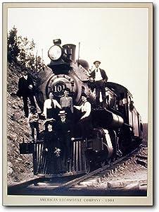 Vintage Wall Decor Steam Train Engine Locomotive Railway Art Print Poster (16x20)
