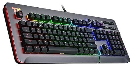 Thermaltake Level 20 RGB Titanium Aluminum Gaming Keyboard Cherry MX Silver Switches – 16.8 Million Color