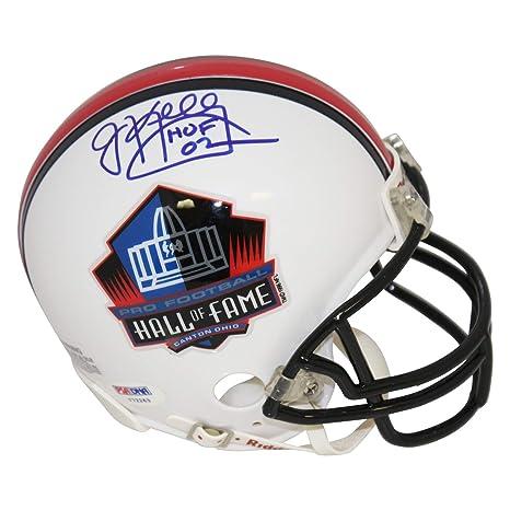 648463fcbc9 Jim Kelly Buffalo Bills Autographed Signed Pro Football Hall of Fame Mini  Helmet - HOF 02