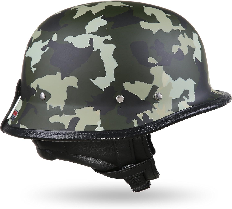 XL ou XXL Noir Moto Helmets/® D33 Casque de moto demi-coque avec fermeture rapide Casque de moto ou scooter au style r/étro Taille S L M