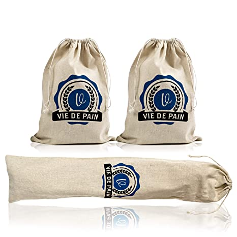 Amazon.com: Bolsas de pan de lino 100% natural de primera ...