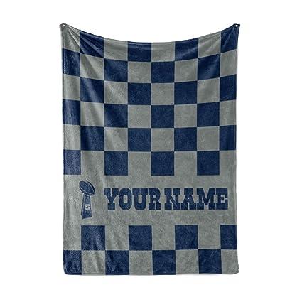 brand new 216ba e70f6 Personalized Corner Custom Dallas Cowboys Colors Themed Fleece Throw  Blanket - Gifts for Football Fans Men Women Kids Man Cave Decor Mens Womens  ...