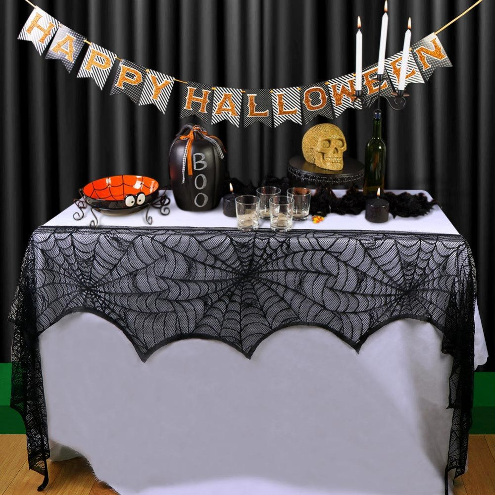 BranXin(TM) 10pcs Halloween Fireplace Lace Sp id er web Table Cloth Halloween Props Party Decoration Accessories Event Party Supplies