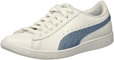 5a26c5a755e0 PUMA Vikky Glitz FS Jr Sneaker White-Cerulean Silver