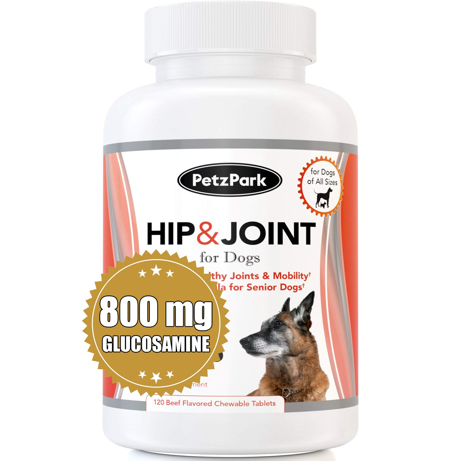 Glucosamine for Dogs Chondroitin MSM - Hip and Joint Support for Dogs of All Ages, Breeds and Sizes - Arthritis Pain Relief Formula 800mg - Extend Joint Care Supplement for Dog - 120 Chewable Tablets