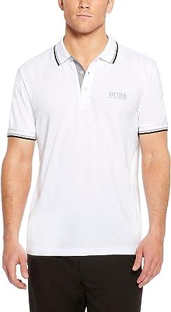 hugo boss white polo