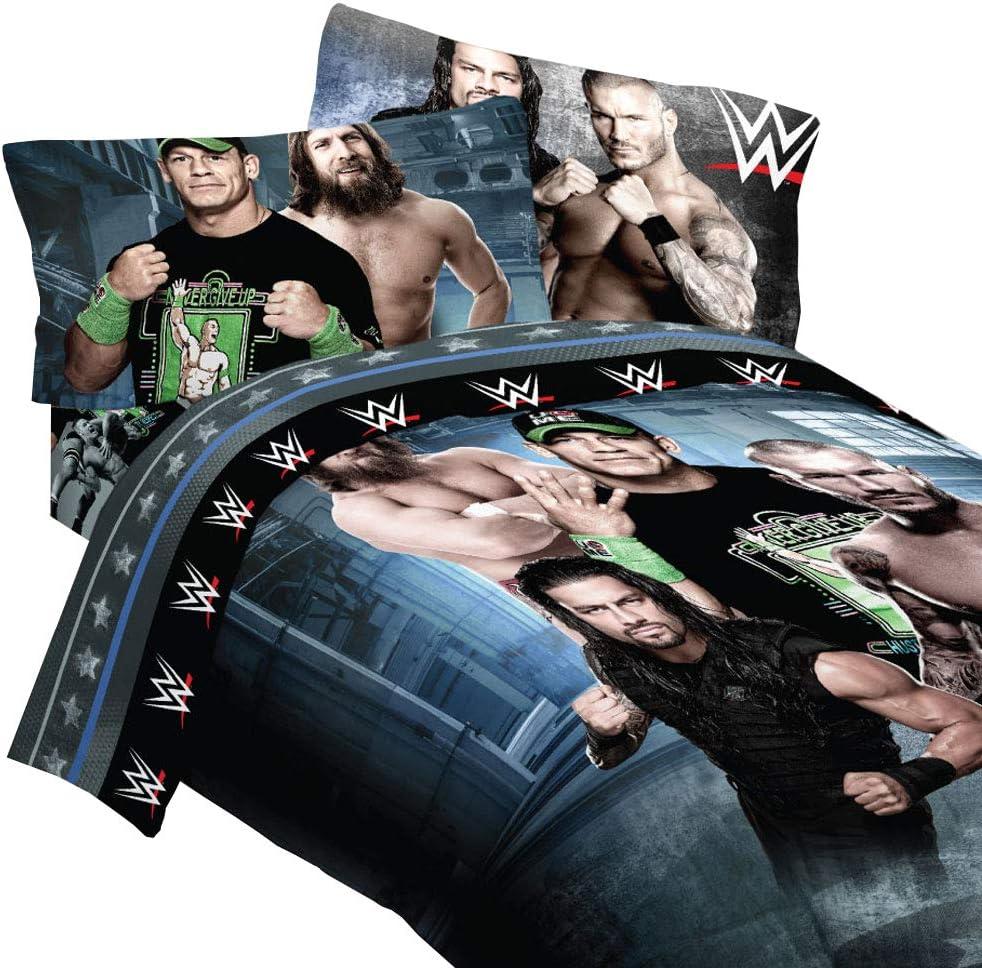 "WWE ""Industrial Strength"" Full Bedding Comforter and Full Sheet Set"