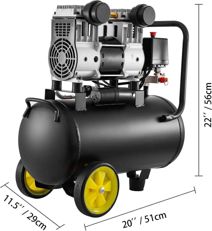 Compresor de Aire de 30 Litros 220V Mophorn Compresor de Aire 30L 1450 PRM Compresor de Aire Portatil Filtro De Aire Compresor Silencioso 30L 170L // Min