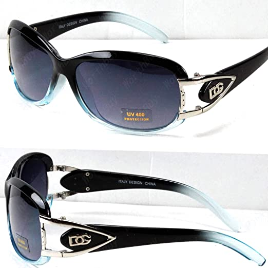 2b3150cd5d8 Amazon.com  DG Eyewear Womens Mens Designer Sunglasses Shades Fashion Wrap Around  Oval Retro  Clothing