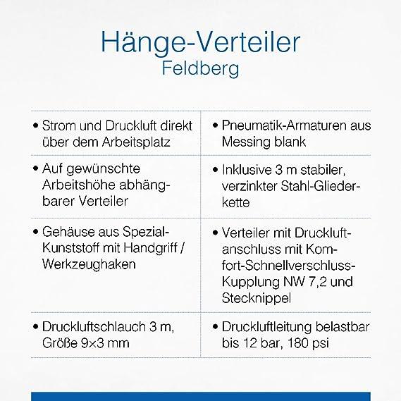 """Schwabe 60974 Hänge-Verteiler /""""FELDBERG/"""" 3m H07RN-F 3G1,5 as"""