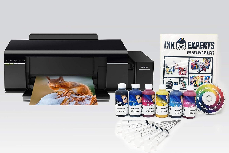 Dye Sublimation Printer Bundle Inktec Sublinova Inks based on an Epson L805 inc