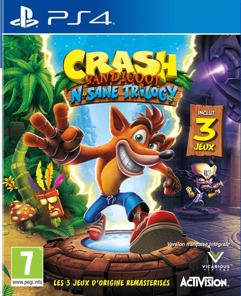 Crash Bandicoot N.Sane Trilogy - PS4   Vicarious Visions. Programmeur