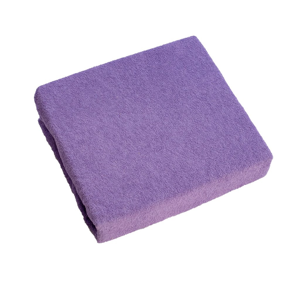 Terry Towelling Fitted Sheet 160x70 cm for Baby Junior Bed - Violet Baby Comfort