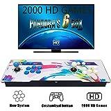 Tinder Console per Videogiochi, Arcade Machine 2020 Giochi Classici, 2 Giocatori di Pandoras Box 6s , 1280x720 Full HD, CPU avanzata ,Alimentazione HDMI e VGA e Uscita USB