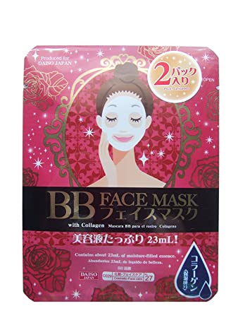 BB Face Mask with Collagen by Daiso Japan