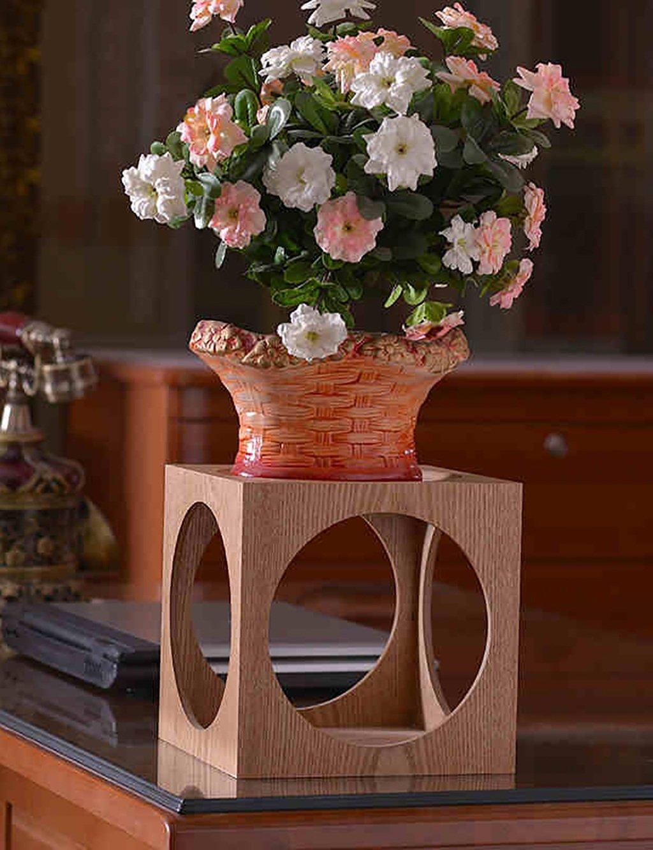 Modernes minimalistisches Massivholz-Quadrat-Blumen-Zahnstange Mehrschichtige Blumen-Zahnstange Fußboden-Art Blumen-Zahnstange Balkon-Fußboden-Pflanzer-Regal Einfache und kreative Wohnzimmer-Innenblumen-Zahnstange