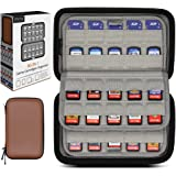 Sisma 80 Game Cartridge Holders Storage Case for Organizing Nintendo Switch Game Cards or SD Memory Cards, Brown