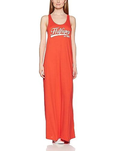 Tommy Hilfiger Kiara Maxi Logo Dress, Polo para Mujer