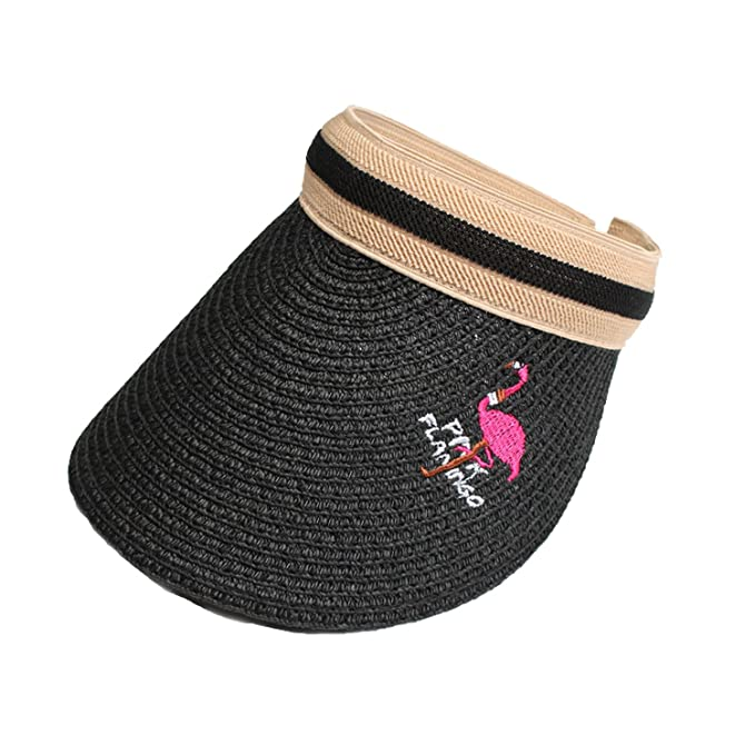 Sllxgli New Sun Hat Female Holiday Beach Trip Visor Hat Flamingo ... 24c0bcc645