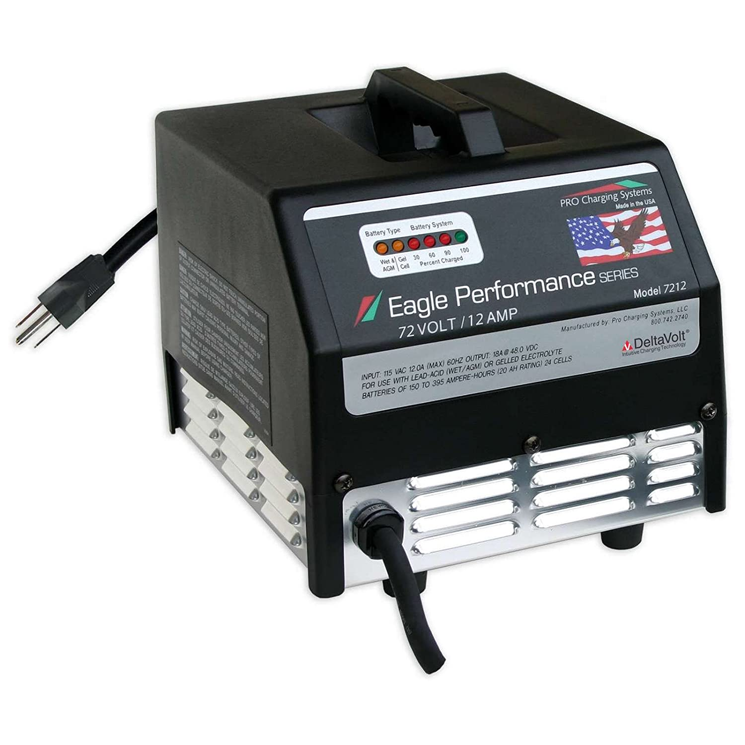amazoncom 72v 12ah dual pro eagle industrial battery pack charger