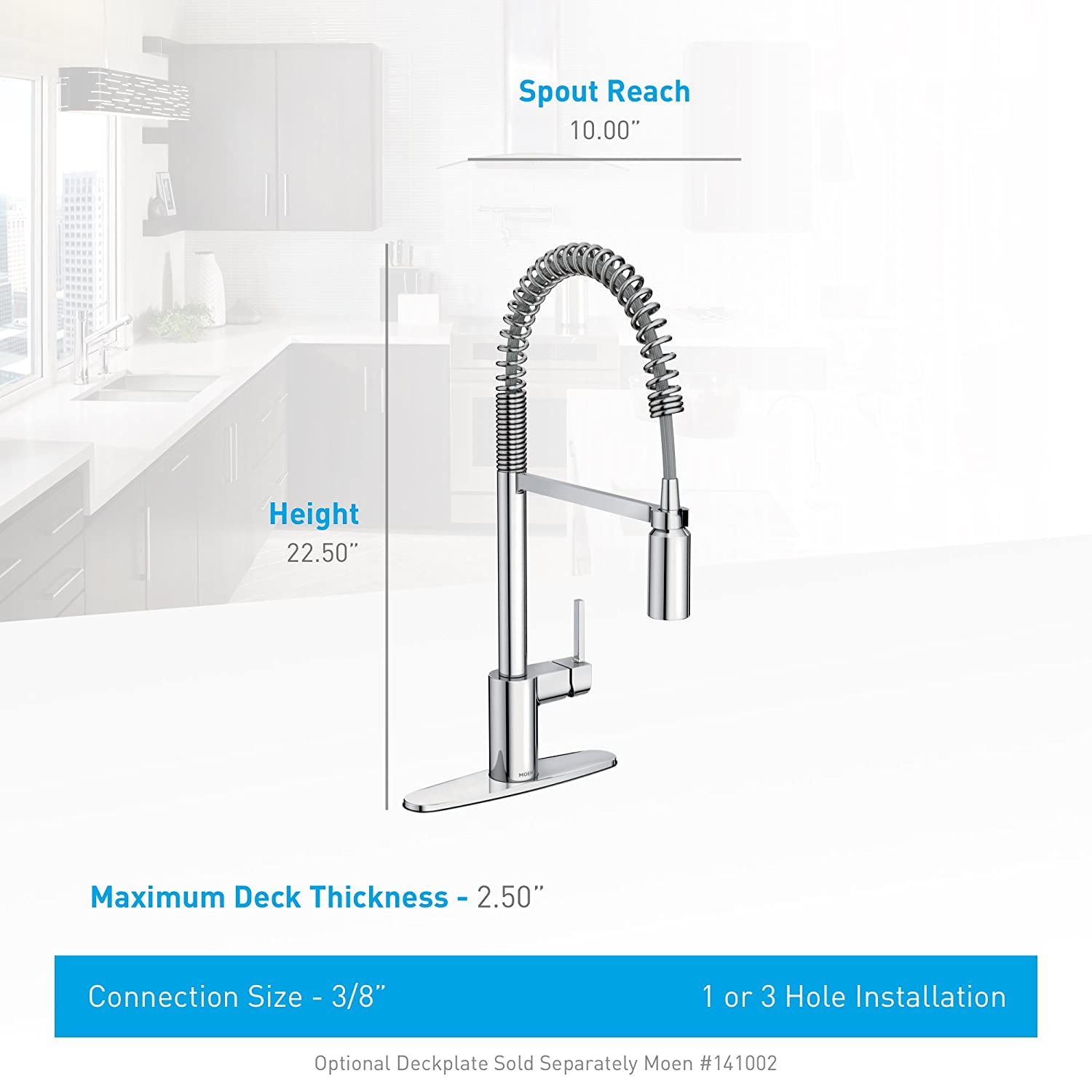 Moen 5923 Align One-Handle Pre-Rinse Spring Pulldown Kitchen Faucet ...